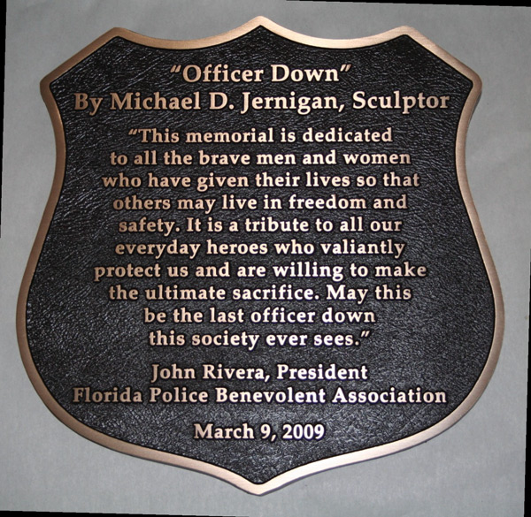 Florida Police Officer Resume Example: Sculptures By Michael D. Jernigan