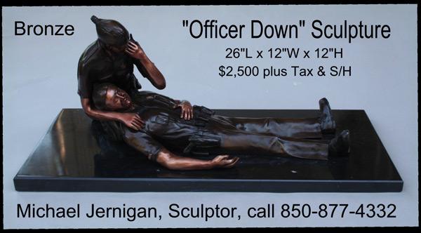 Quot Officer Down Quot Memorial Sculptures By Michael D Jernigan